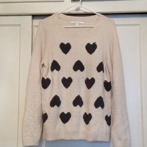 LC Lauren Conrad sweater with hearts